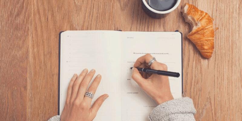 Journaling as a creative morning habit