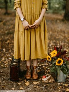 autumn-setup-and-a-woman-dress