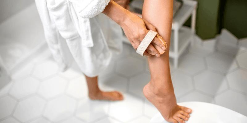 Dry brushing your skin