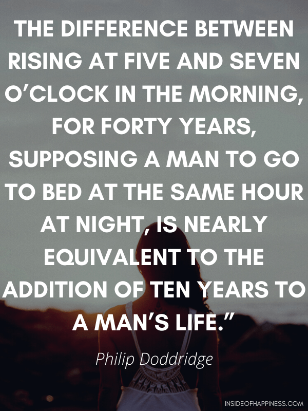 Quote about waking up early