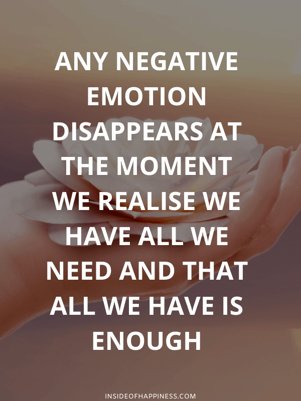 Negativity Disappears at the presence of love quote