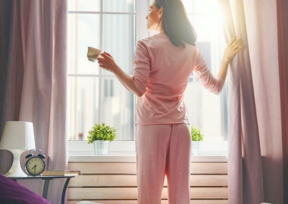 Morning routine to wake up